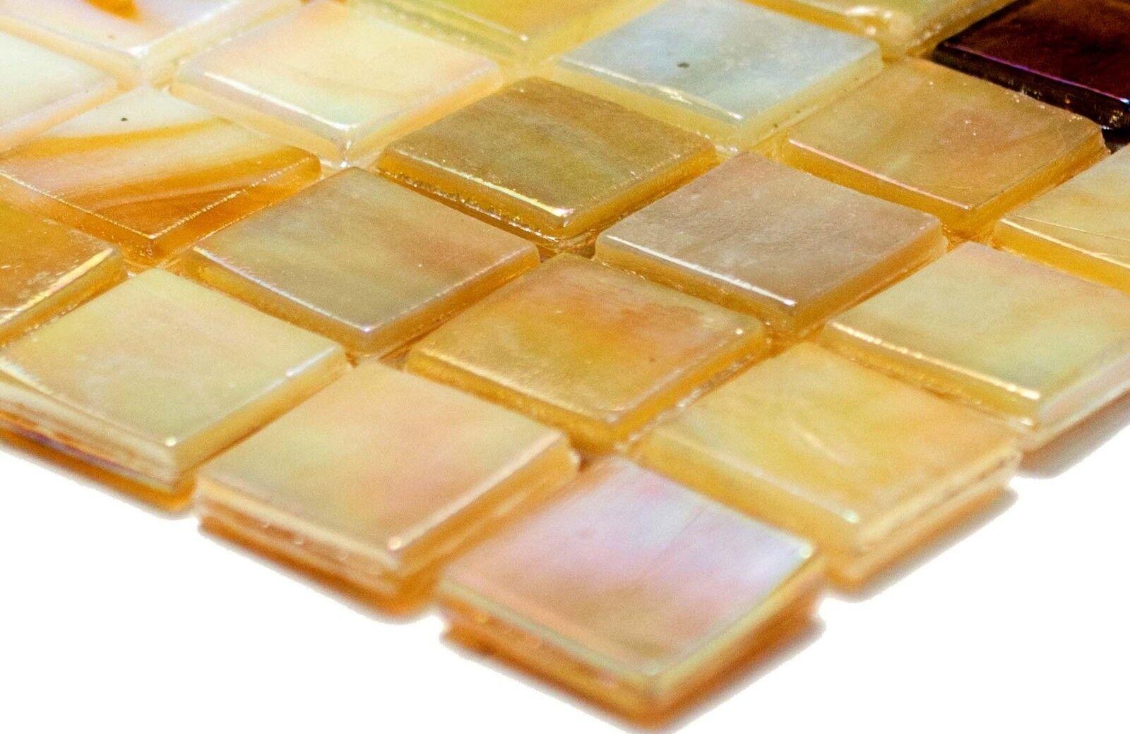 Mosaico piastrella vetro color sabbia speccio doccia bagno
