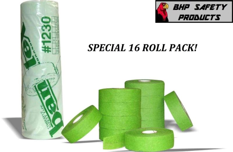 "BANTEX COHESIVE GAUZE SAFETY FINGER TAPE GREEN 3/4"" X 30 Yd. #1230 (16 ROLL PK)"