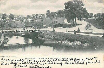 1905 West Side Park Paterson NJ post card - West Paterson Nj