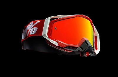 100 % Prozent Racecraft verspiegelt MX Motocross Cross Brille Fire Red Rot BMX n