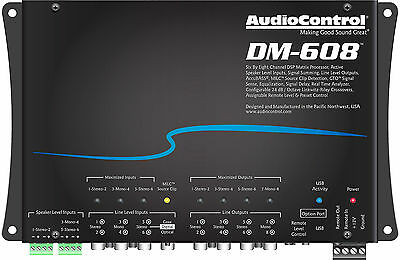 Audiocontrol Dm 608 8 Channel Digital Signal Processor Ultimate Eq Crossover New