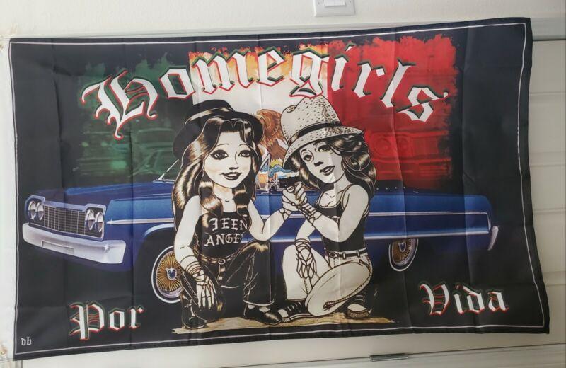 Lowrider 3x5 Flag Art Homegirls Teen Angel