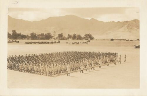 1930s US Army Schofield Barracks Troop Review Hawaii Photo #5 troops