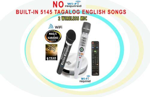 Magic Sing Karaoke E2 WiFi 2 Wireless Karaoke Mic 1YEAR CARD16k TAGALOG +12KPOP
