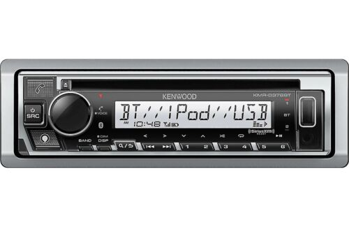 Kenwood KMR-D378BT Marine/Motorsports CD Receiver with Bluetooth Front USB & Aux