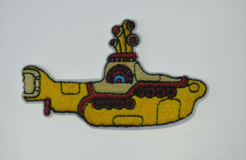 The BEATLES YELLOW SUBMARINE Embroidered Patch Badge Iron Sew On Applique 3""