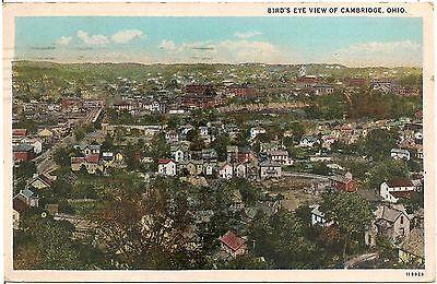 Bird's Eye View of Cambridge OH Postcard 1930