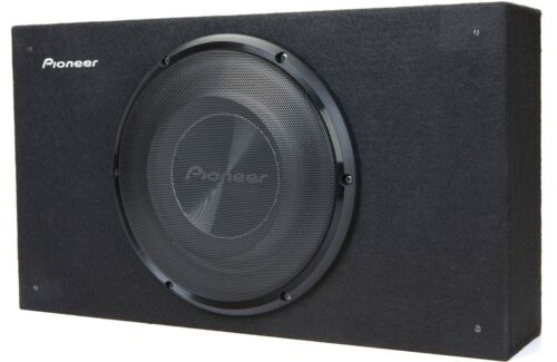 """New Pioneer TS-A2500LB 10"""" Shallow Truck Wedge Subwoofer Behind Seat Enclosure"""