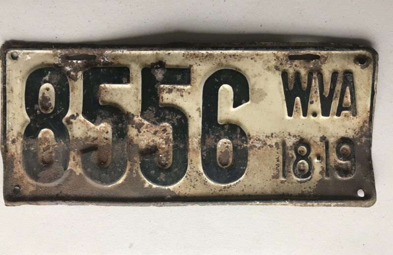 West Virginia License Plate 1918-19
