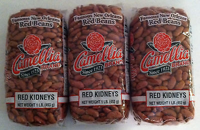 Camellia Famous New Orleans Red Beans (Red Kidneys) Three Pack