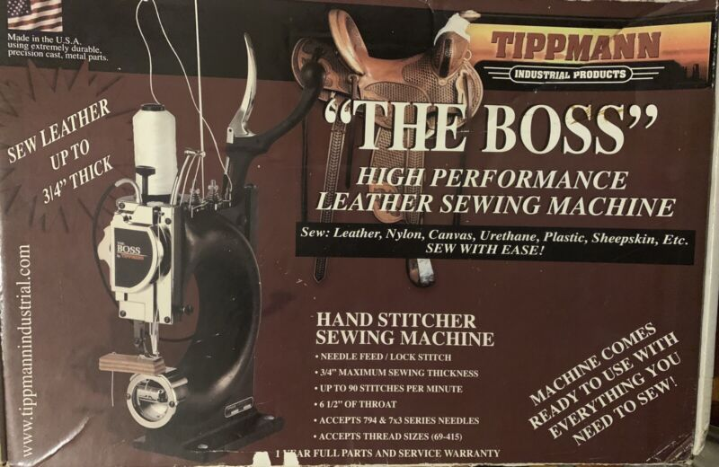 """Tippmann """"The Boss"""" Leather Sewing Machine."""