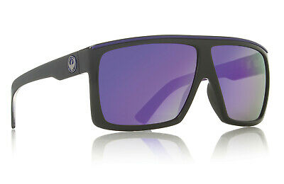 NEW Dragon Fame Nebula Purple Ion Mens Large Rectangular Sunglasses Msrp$110