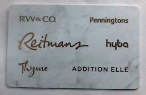$100 Reitmans Gift Card for $85. Use at 6 different stores