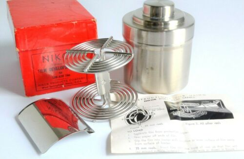Nikor 120 / 620 Stainless Film Tank and Reel w/ Loader, Box & Instructions