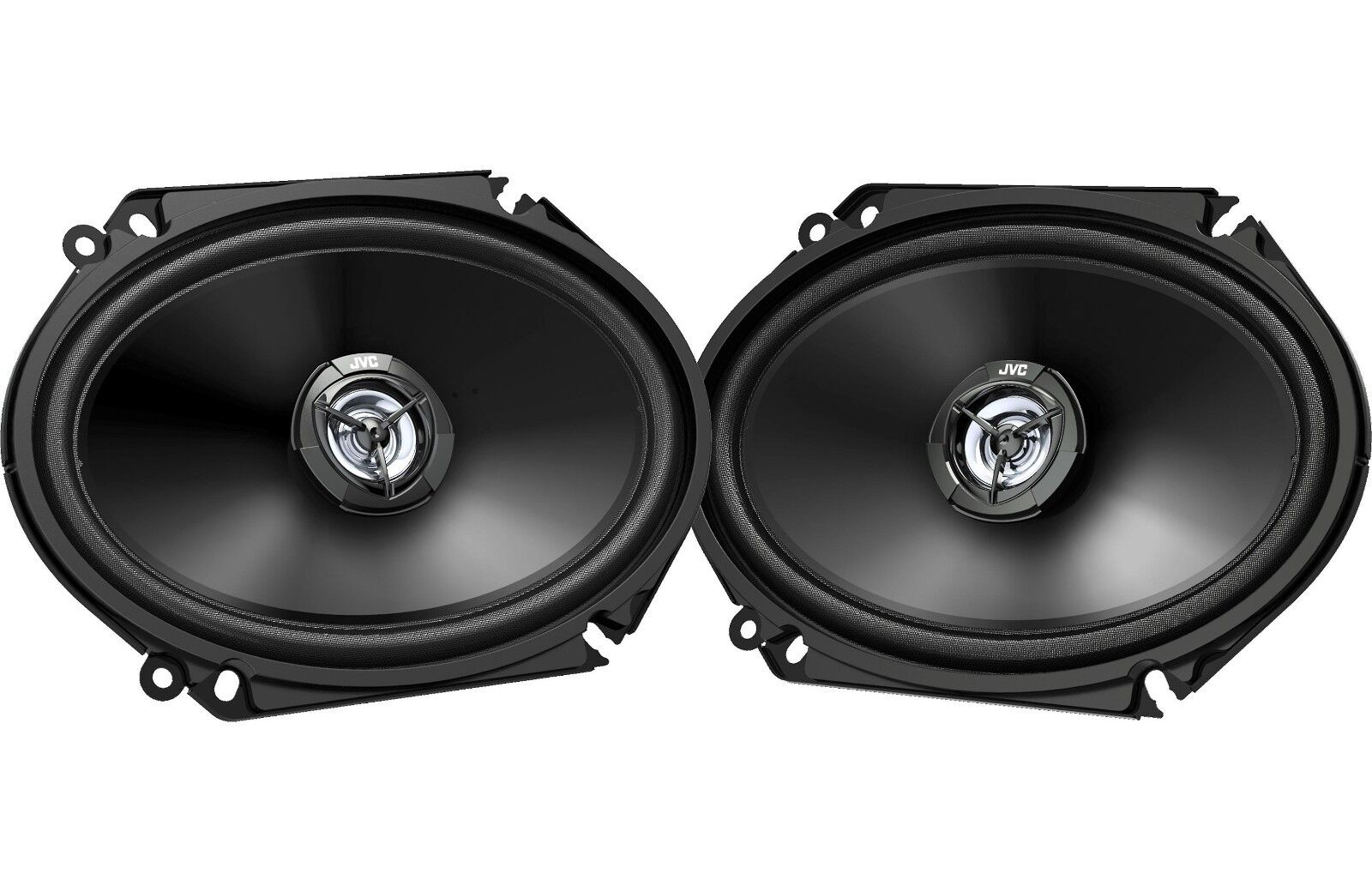 "Jvc - 6"" X 8"" 2-way Car Speakers With Carbon Mica Cones  - B"