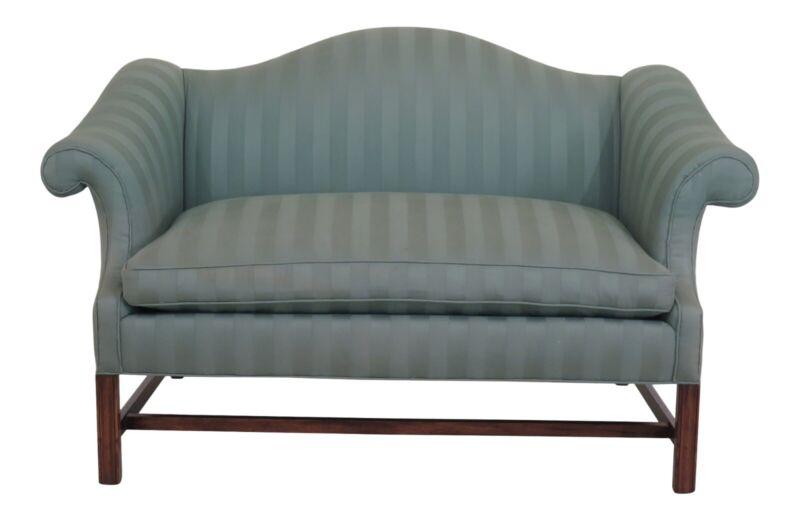 F48597EC: Chippendale Style Camelback Upholstered Loveseat