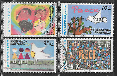 SOUTH AFRICA 1994 PEACE ISSUE CHILDREN'S PAINTINGS COMPLETE USED SET 0561
