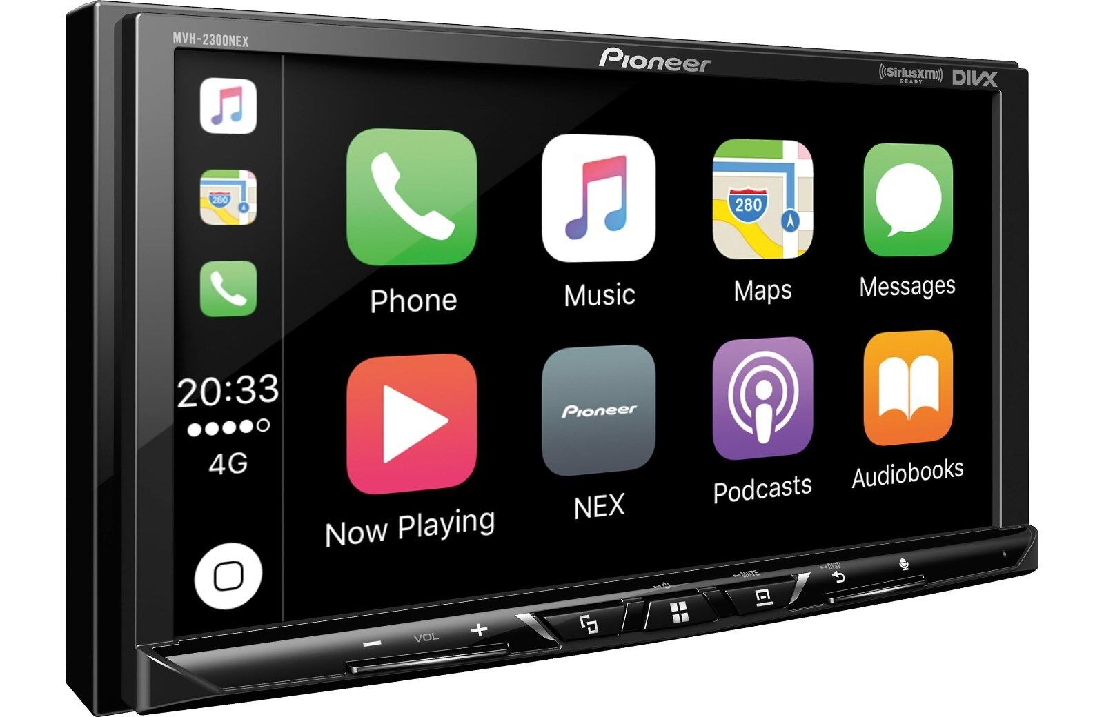 "Pioneer MVH-2300NEX 2 DIN MP3 Digital Media Player 7"" Bluetooth CarPlay Android"