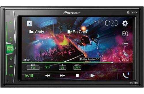 "Pioneer MVH-210EX  6.2""  Double DIN In-Dash Multimedia A/V Receiver R/B"