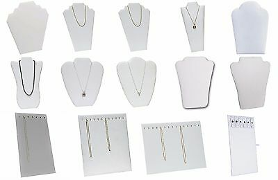 White Necklace Easel Jewelry Display for Chains, Necklaces Pendants 1-6-12 Pcs