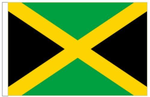 Jamaica Sleeved Courtesy Flag ideal for Boats 45cm x 30cm