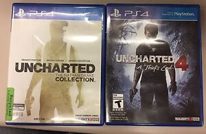 Uncharted 4 and Uncharted Collection PS4