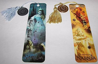 The Chronicles Of Narnia   Aslan The Lion   White Witch Tassel Bookmarks   Coins
