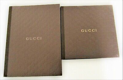 Lot of 2 GUCCI 2010-2011 CATALOGS Men's and Women Accessories Hardcover Vintage
