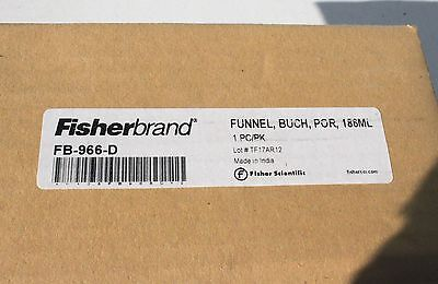 Fisherbrand 186ml 70mm Ceramic Porcelain Buchner Vacuum Filter Funnel Fb966d