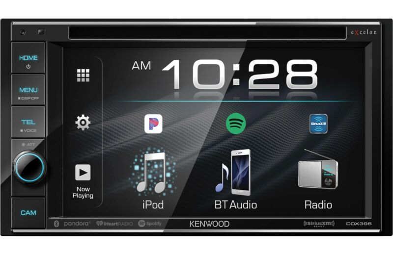 "Kenwood eXcelon 6.2"" Touchscreen Bluetooth Car Stereo DVD Receiver *DDX396"