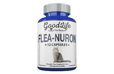 MONTHLY Flea Control 1 Year Supply For CATS 2-20 Lbs. 205Mg GoodLife 12 Capsules