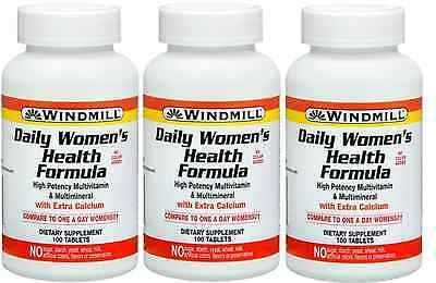 Windmill Daily Womens Health Formula, 100 Ct (3 Pack)