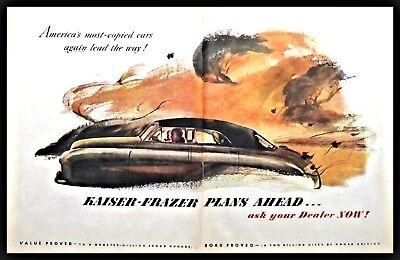 1948 KAISER-FRAZER 2-page Classic Car Art Illustration AD for sale  Woodsville