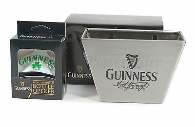 Guinness Shamrock Clover Wall Mount Bottle Opener & Steel Cap Catcher ~ NEW