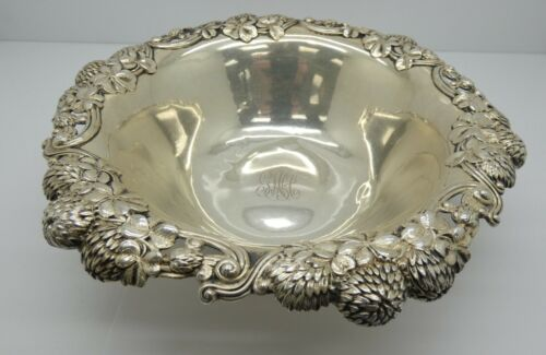 """Tiffany & Co Clover Blossom 9"""" Sterling Silver Fruit Bowl"""