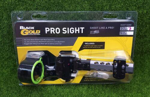 Black Gold Pro Sight  3-Pin (.019) Right Hand Bow Sight - BGPDT3