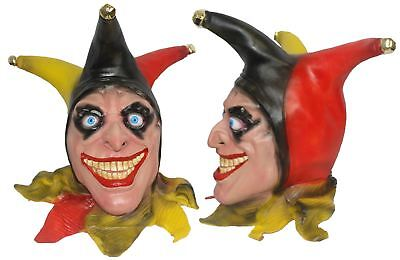Full Head Buffon Evil Wicked Jester Latex Animal Hand Painted Clown Fancy - Wicked Jester
