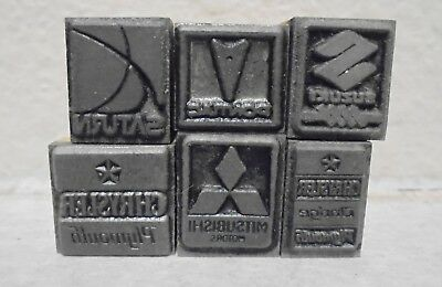 Lot Of 6 Letterpress Printing Blocks All Cars Makes Chrysler Saturn Pontiac.....