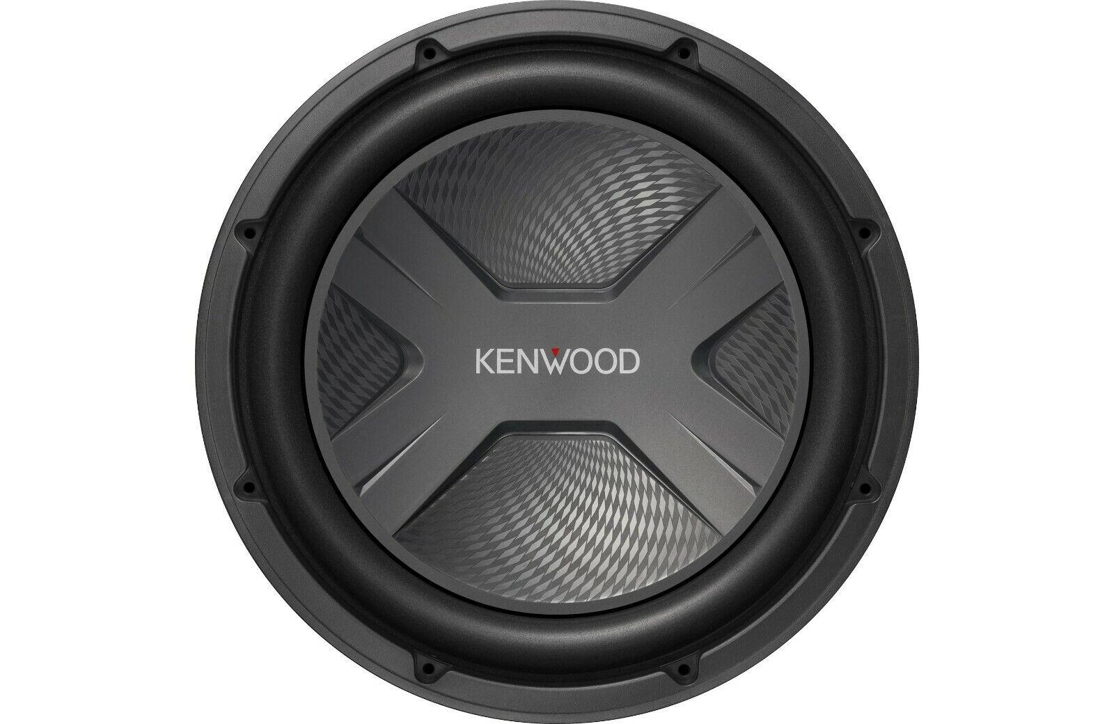 "Kenwood - 12"" 4-ohm Subwoofer - Silver"