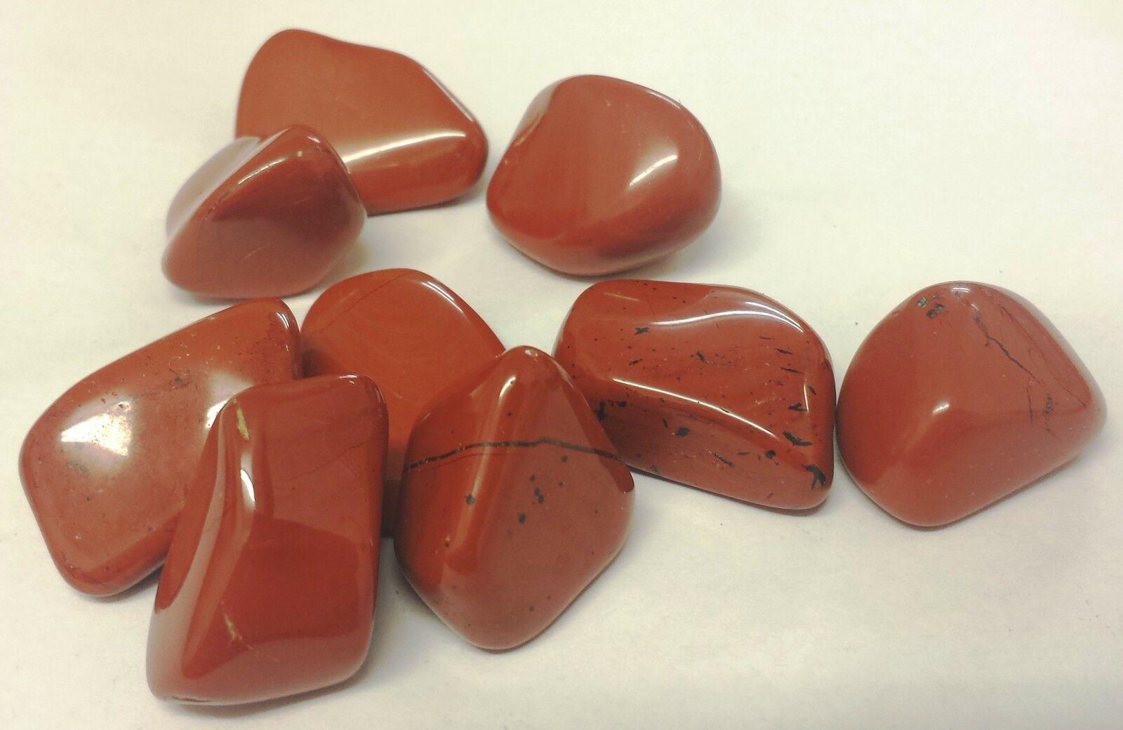 3 x BEAUTIFUL RED JASPER TUMBLESTONES - REIKI MEDITATION
