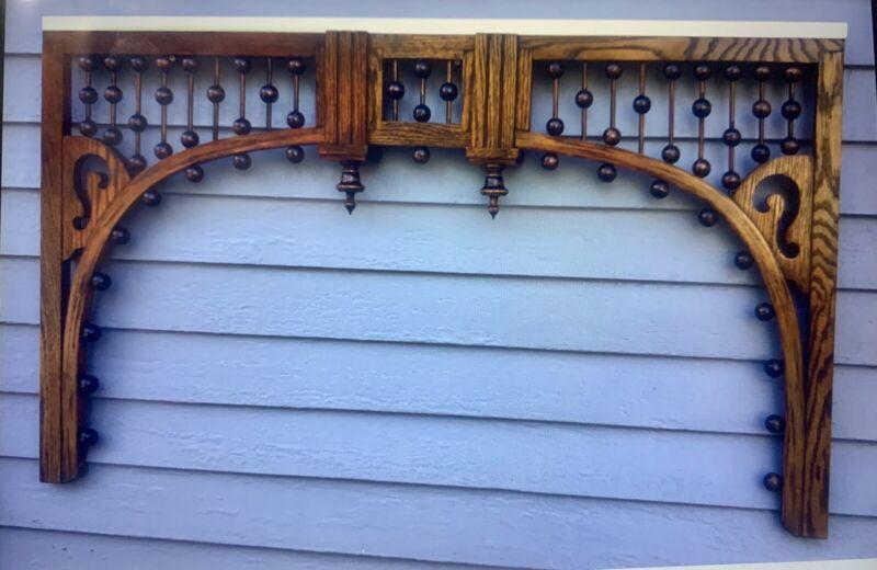 Oak Victorian Fretwork - Arch