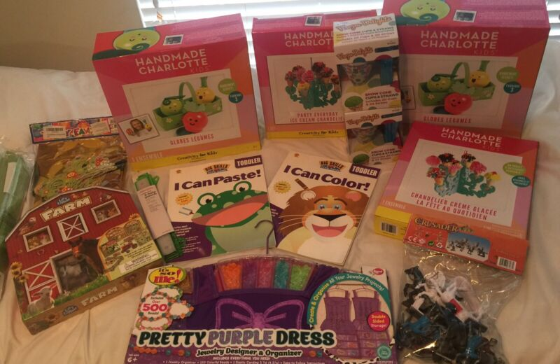 Lot of Childrens Items Books Balloons Party Supplies Crafts Toys -Lots Vary