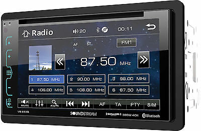 Soundstream Double Din VR-65XB DVD/CD/MP3 Player 6.2