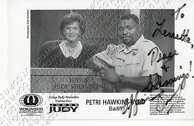 8.5x5.5 SIGNED AUTOGRAPHED PHOTO PETRI HAWKINS-BYRD BAILIFF OFFICER JUDGE JUDY](Officer Judy)