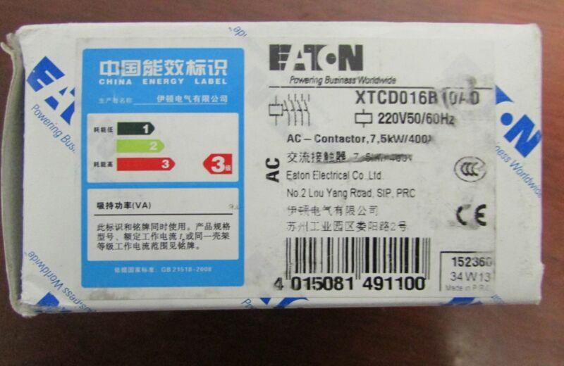 EATON KLOCKNER MOELLER XTCD016 Contactor 220V XTCD01610AO
