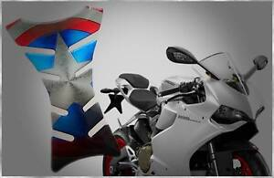 CAPTAIN AMERICA SHIELD 3D GEL RESIN MOTORBIKE TANK PAD PROTECTOR Stanhope Gardens Blacktown Area Preview