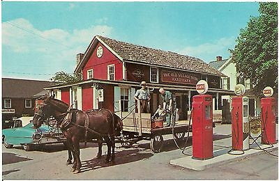 Old Village Store in Bird-In-Hand PA Postcard Gas Pumps