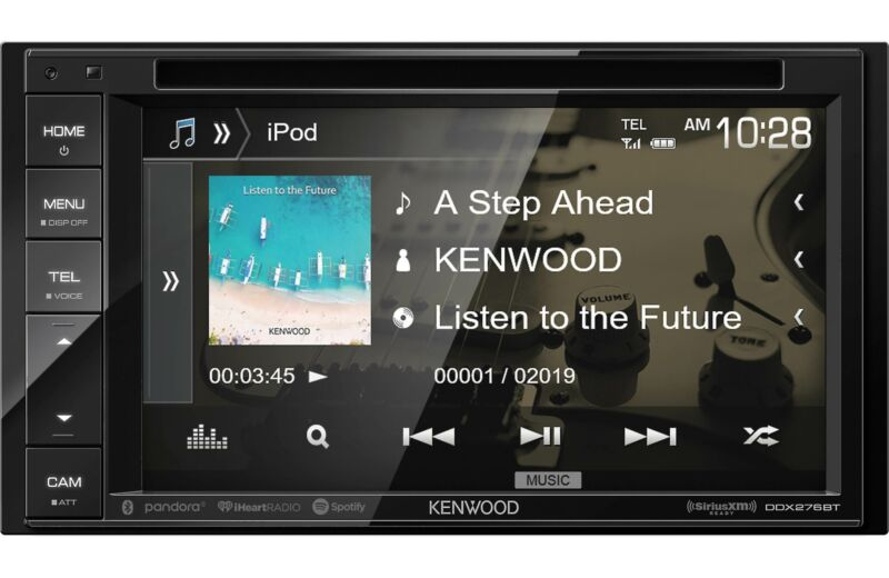 """Kenwood DDX276BT 2-DIN 6.2"""" Touchscreen Bluetooth Car Stereo DVD Player Receiver"""