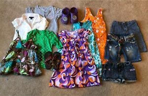 Summer clothing and shoes, size 4