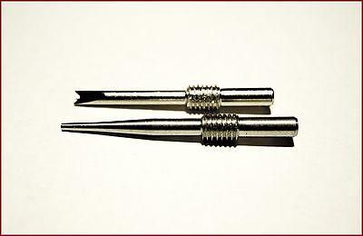 ERSATZ-PIN und -GABEL für professionelles Federstegbesteck mit Aluminium-Schaft